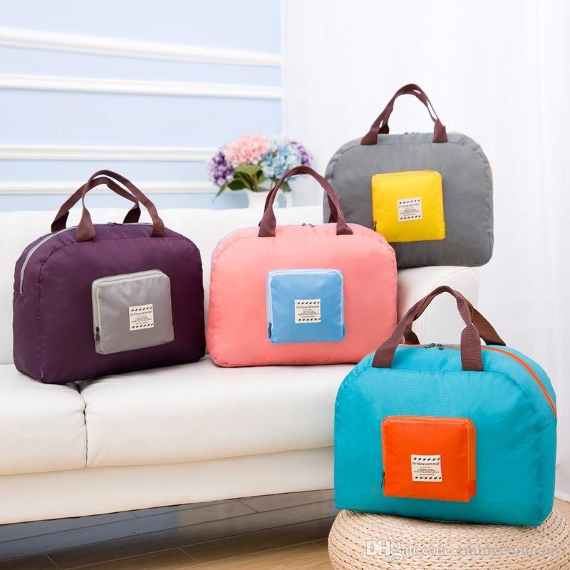 Sacos de compra da bagagem Saco Eco-friendly resusable Folding Shopper saco impermeável reutilizáveis Bolsa de armazenamento 4 cores misturadas