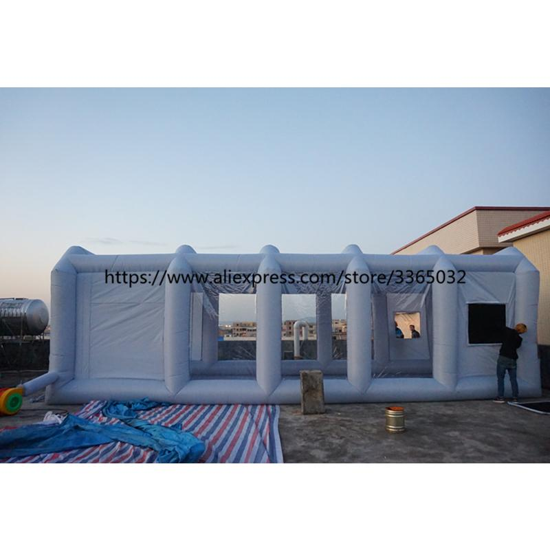 39x16x13Ft Cheap Used Portable Automatic Garage Paint Tent Mobile Inflatable Spray Booth For Sale