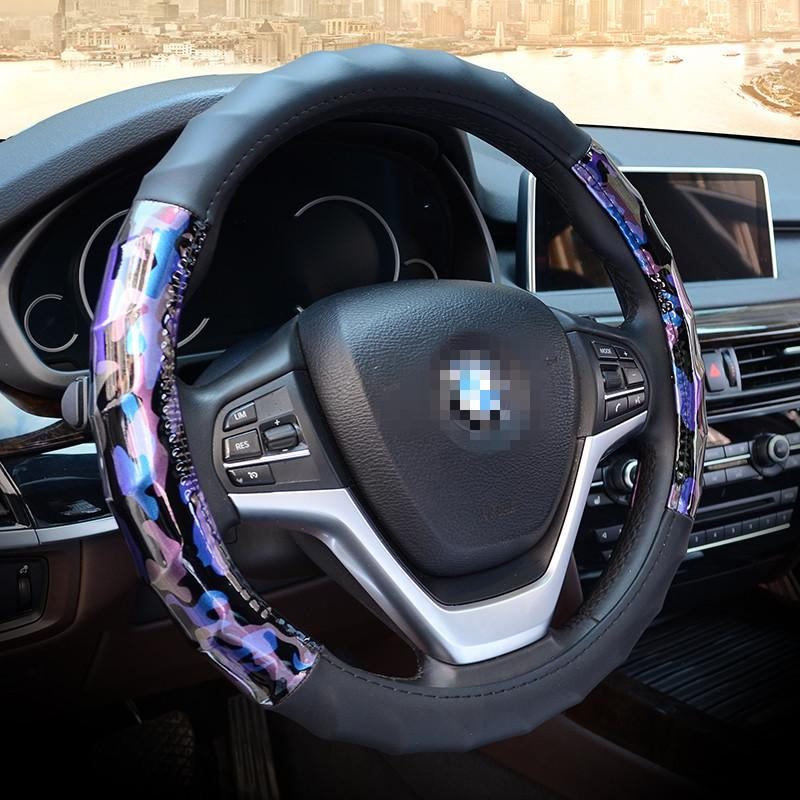 Car universal steering wheel cover creative multifunctional non-slip breathable steering wheel cover auto parts supplies
