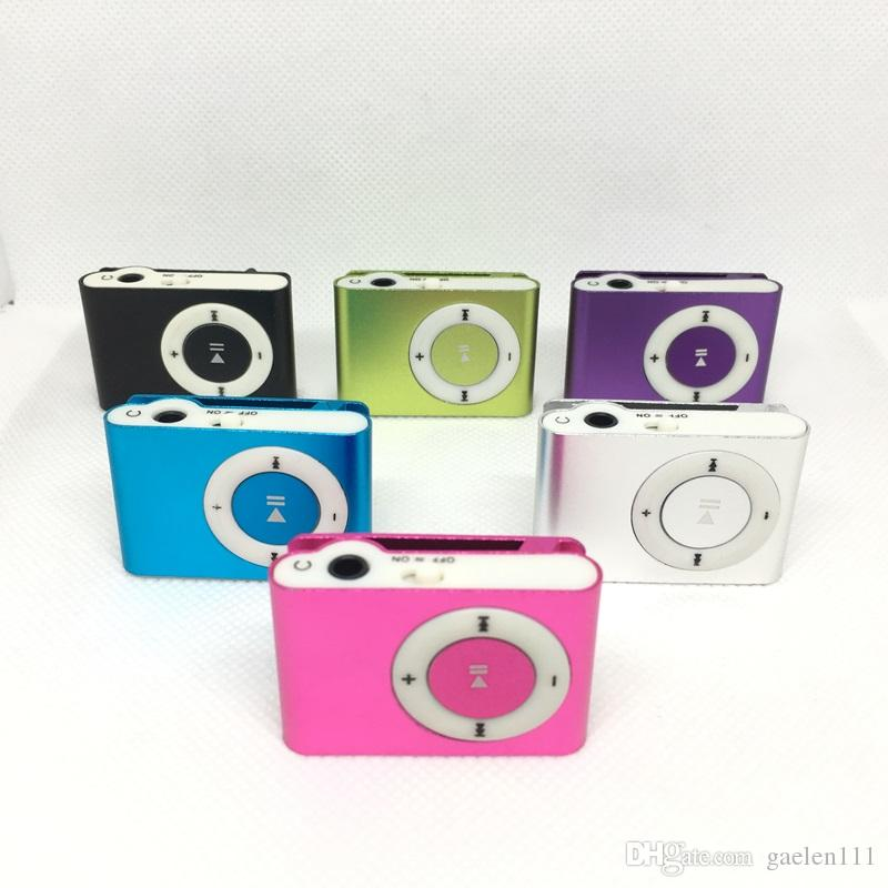 DHL Free Mini Clip MP3 Player without Screen support Micro SD TF Card Sport Style Portable MP3 Music Players
