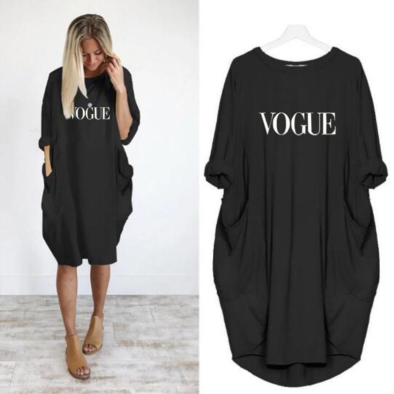 Женщины Повседневная Письмо Печати Половина Рукава O-Образным Вырезом Мини-Платье Лето 2020 Женский Новое Поступление Мода Сплошной Черный Женские Платья Vestidos