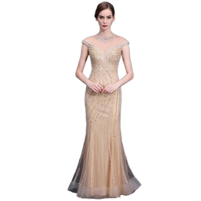 LPTUTTI CRYSTAL Beading New For Women Elegant Date Ceremony Party Prom Gown Formal Gala Events Luxury Long Evening Dresses