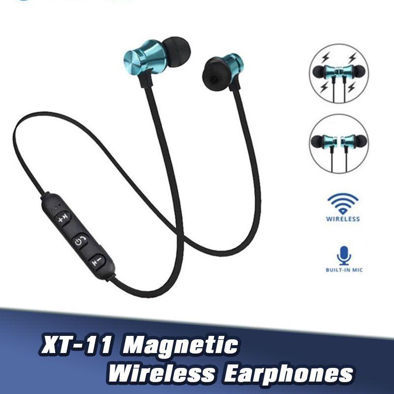 XT-11 BT4.2 écouteurs stéréo sans fil avec micro casque écouteurs Bluetooth basse magnétique pour Samsung LG Retail Package