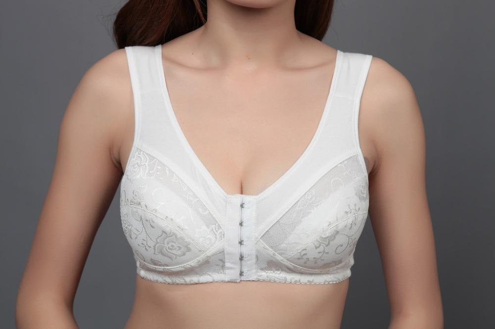 Unlined Front Closure 5 Hook and eye Thin Cup Summer Style Cotton Comfortable Bra Push Up Plus size 36-42BCD Seamless Soft A2