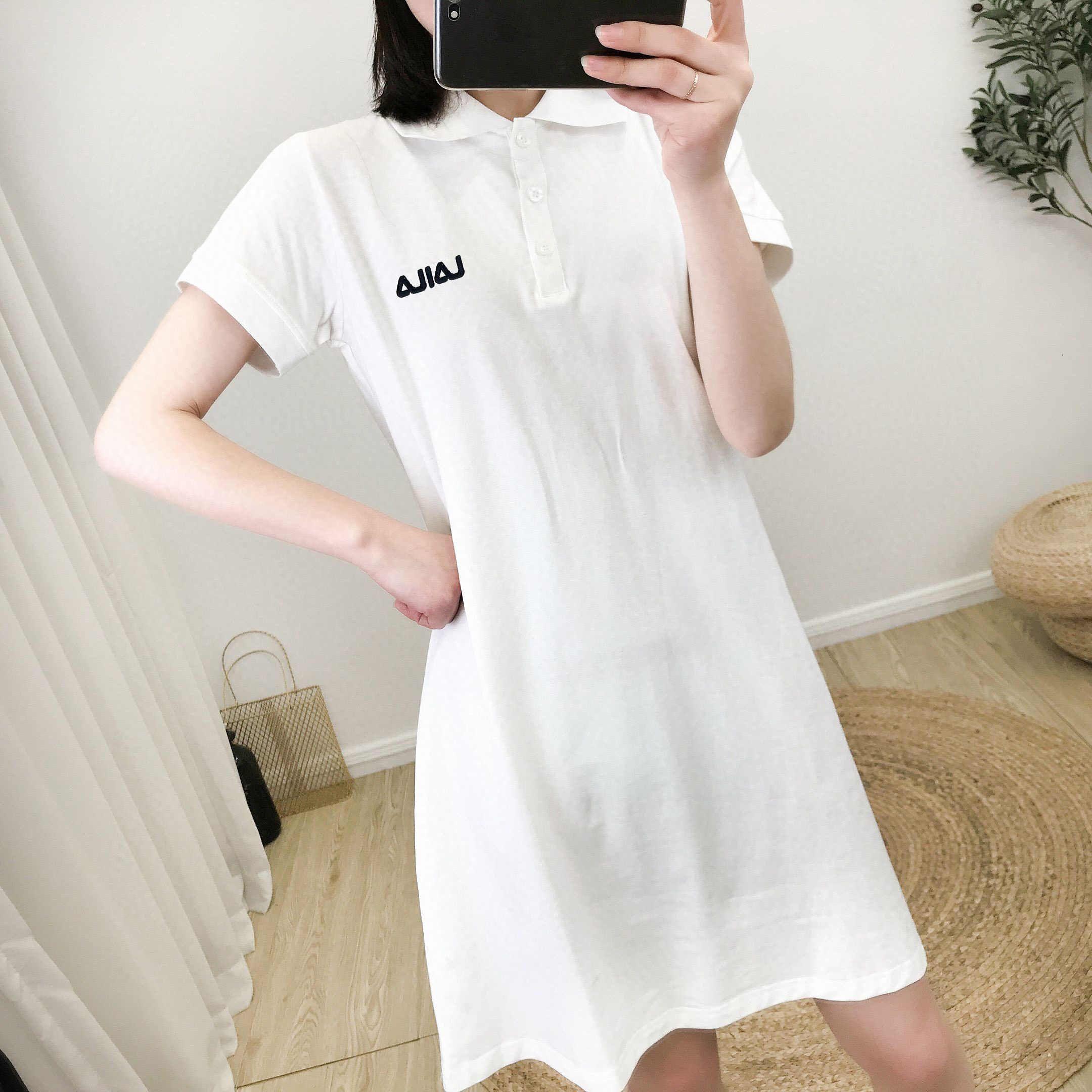 Designer Damen Polo-Kleider 2020 neue Ankunfts-Art- Sommer-Frauen-Marken-Hemden Kleid der beiläufigen Frauen Polos Kleider Größe M-XL YF203021