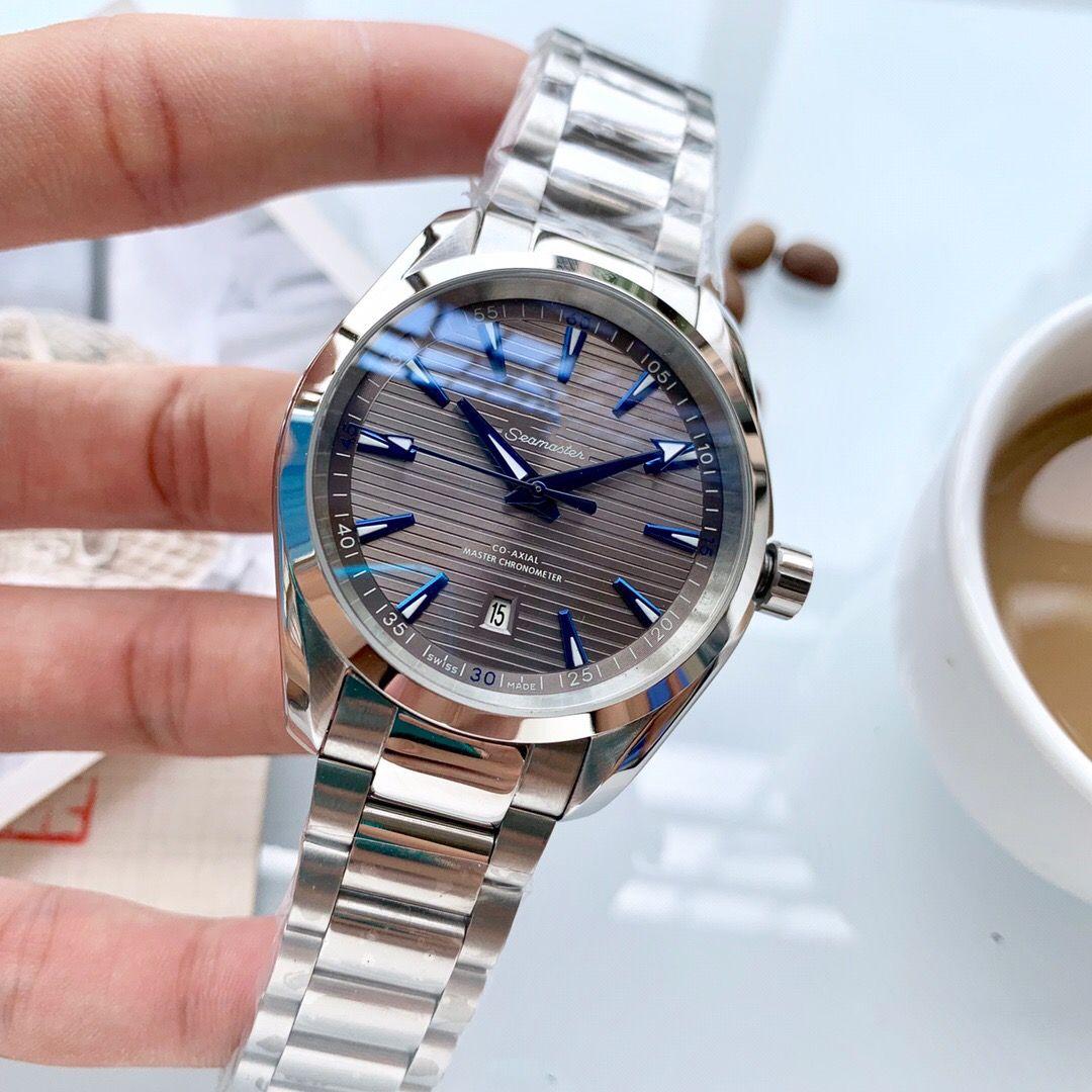 2019 2020 alto mar mestre qualidade Terra 150m Aqua mens 007 relógios homens relógios relógioómega00 relógio [não fora lã galpão] D26312