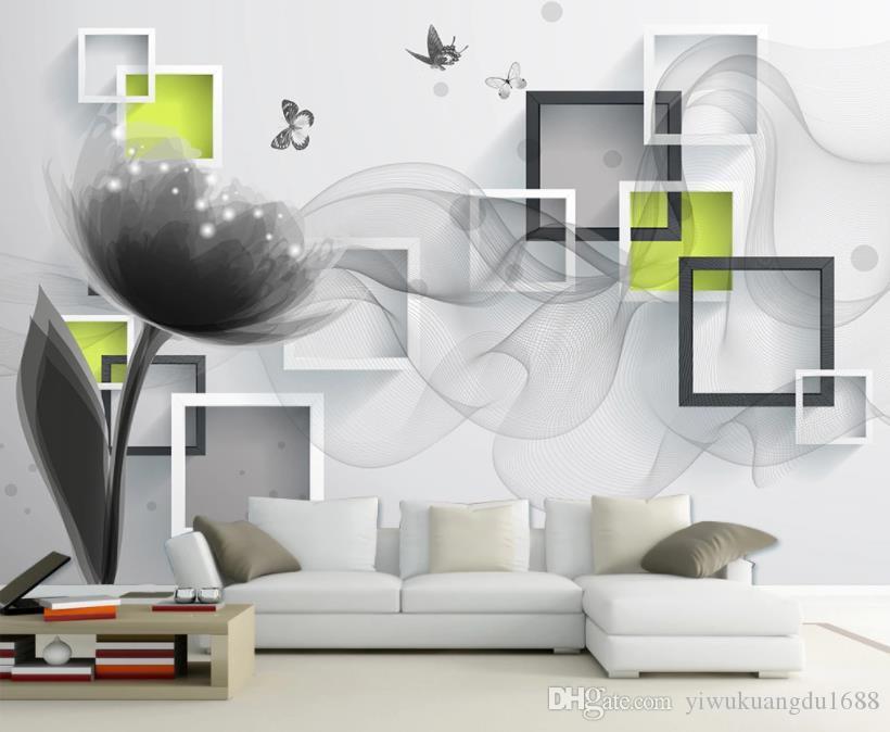 papel de parede para paredes 3 d para sala 3D do fundo da parede de TV de fantasia de seda