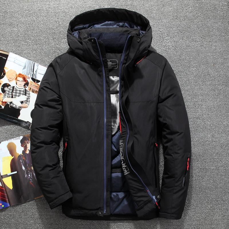 Nizza alta qualità di arrivo Inverno 71% Bianco anatra Piumini Uomini Uomini Inverno Parkas, Abbigliamento da sci Più-formato M-3XL