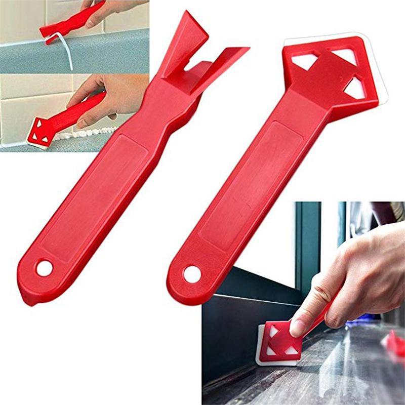 Cimento 2pcs Ângulo raspador de silicone raspador raspador Pá Lâmina remoção de residuais de borracha de construção Rodos