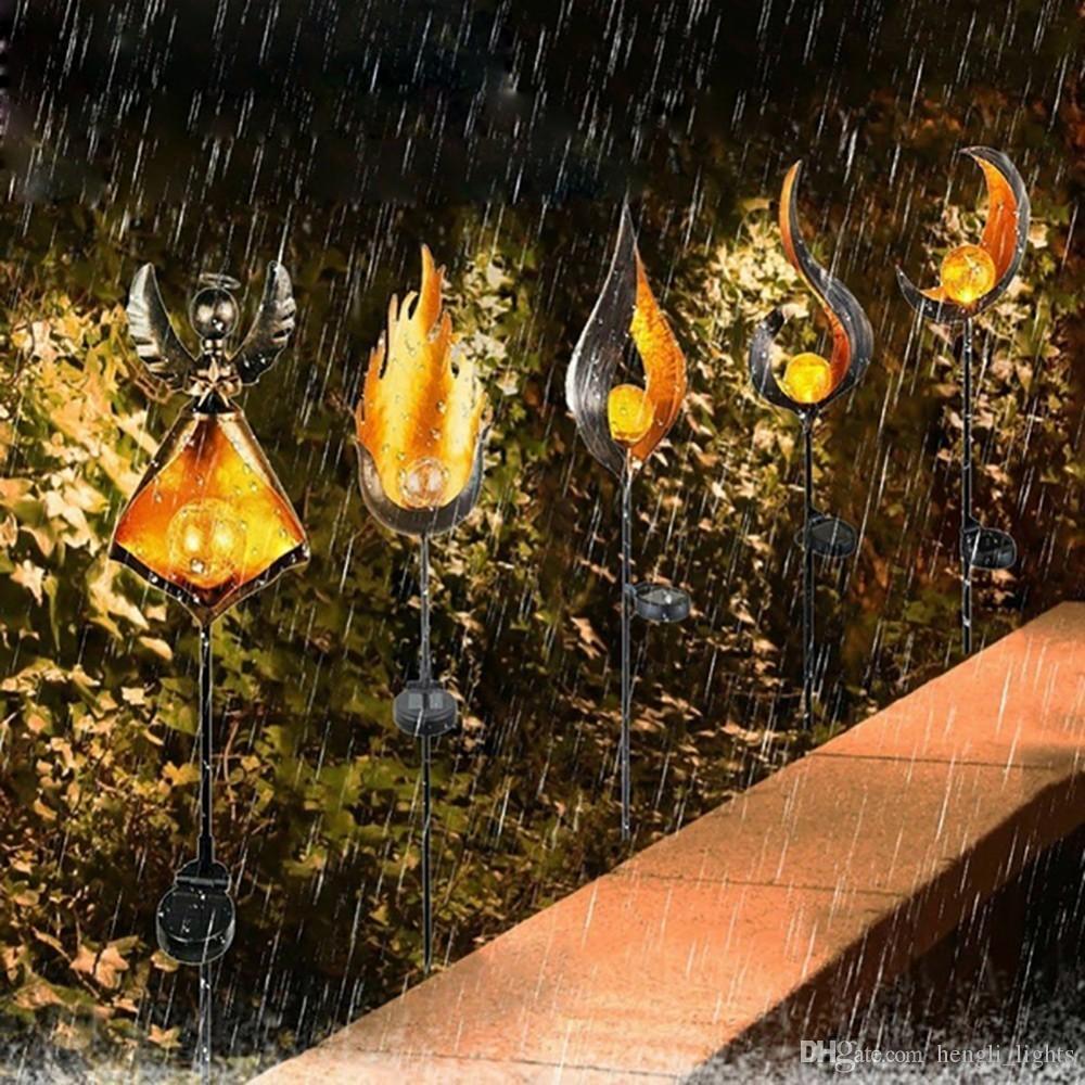 Ruta Solar llama de la lámpara parpadeo llevada impermeable decoración del jardín de la lámpara del paisaje luz del césped Iluminación luz de la antorcha SY0534 Spotlight