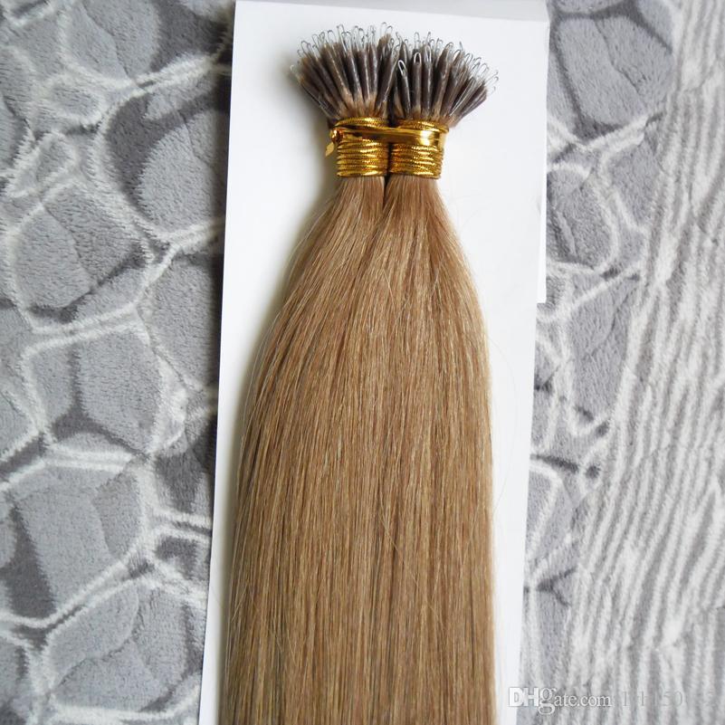 Extensões 100% nuas do grânulo das extensões 1008 do cabelo humano de Remy do cabelo do anel nano micro