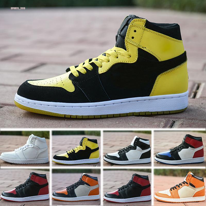 Nike Air Jordan 1 Product Name:1 OG High Bred negro rojo blanco hombres zapatos de baloncesto 1s mujeres deportes al aire libre entrenadores de moda zapatillas deporte tamaño 36-45