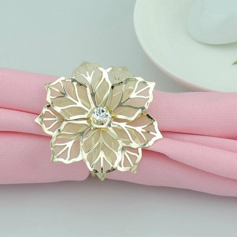 12 Patrón pieza servilleta anillo de la familia del hotel Mesa de comedor de gama alta de la servilleta anillo de la boca de la servilleta decoración de la boda Anillo