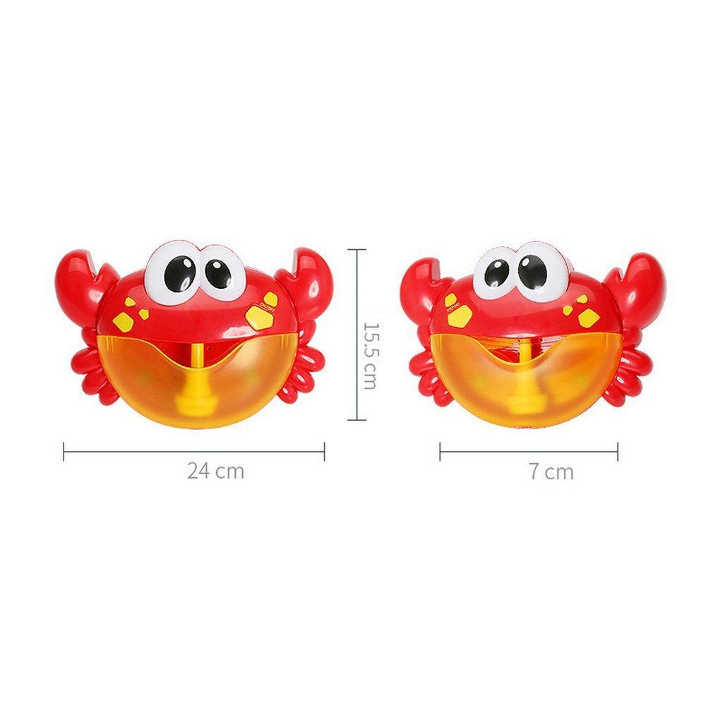 Cangrejo eléctrica Máquina de burbujas Bubble Maker Bañera Luz Música para bebés jabón de baño de la máquina Juguetes natación soplador de agua de juguete divertido para los niños