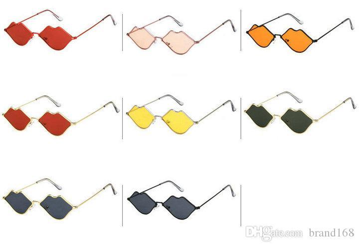 (ÇİN'DE YAPILDI) Yeni Kişilik Dudaklar Şekli Bayan Sunglass Moda Yeni Renkler spor güneş gözlüğü Güneş gözlükleri gönder.