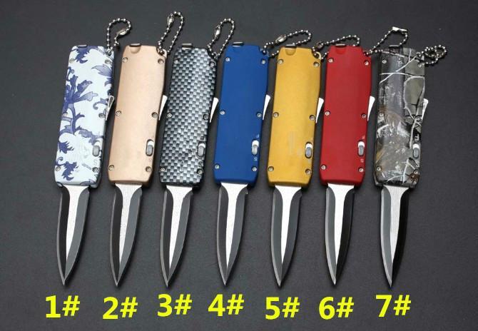 PD mini-glória puxar mangual única ação chaveiro bolso auto-defesa tático dobrável presente EDC faca de acampamento faca de caça facas xmas Adker