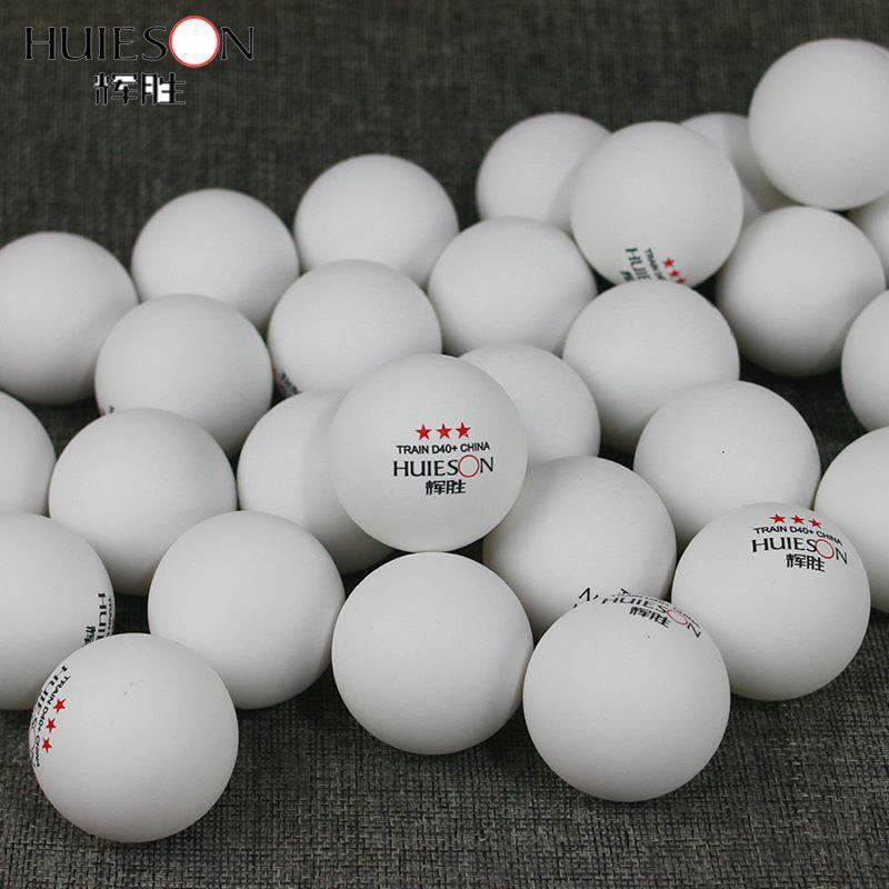 Huieson 100 Pcs 3 étoiles 40mm 2.8g tennis de table Balles de ping-pong pour match nouveau matériel plastique ABS Tableau de formation Balles T190927