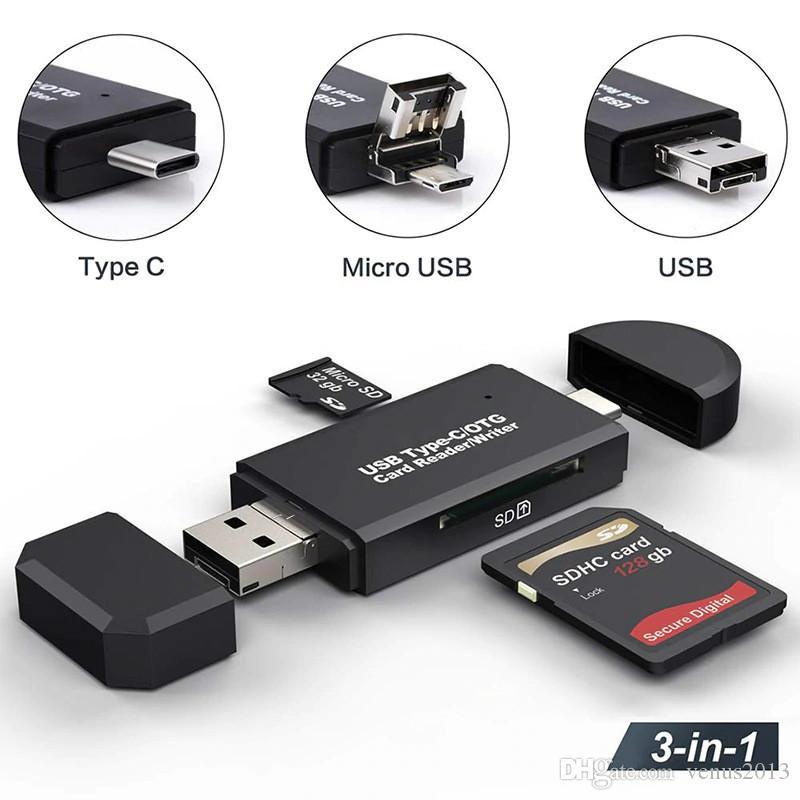 متعددة الوظائف USB 3.0 نوع C قارئ بطاقة وتغ محول SDXC SDHC SD MMC RS-MMC مايكرو SD مايكرو SDXC مايكرو SDHC بطاقة قارئ
