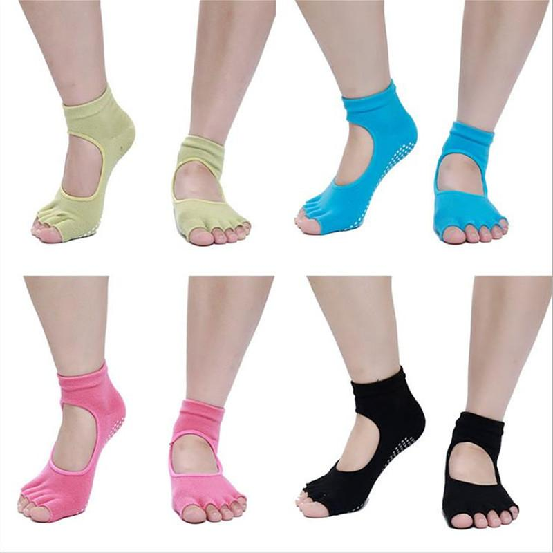 1 Paar Frauen-Sport-Yoga-Socken Anti-Rutsch-Quick-Dry Damping Pilates Ballett Socken Tanz-Schutz