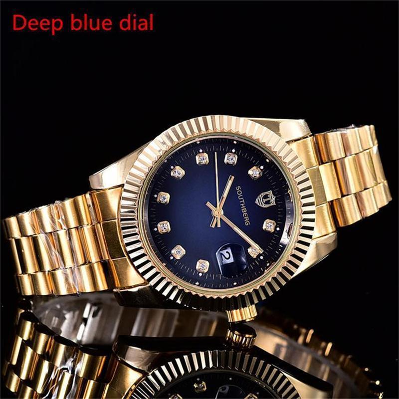 roxxxx aço inoxidável assistir função Calendário de discagem Rhinestone relógio literal Quartz relógios 40 milímetros de Luxo Famoso Homens Mulheres de quartzo