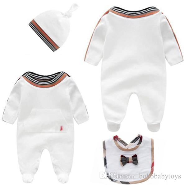 17 stilleri Bebek çocuk giysileri yeni doğan romper bahar pamuklu uzun kollu kız Jumpsuit Çocuk Kıyafetler Giyim sonbahar giyim 0-24M b249