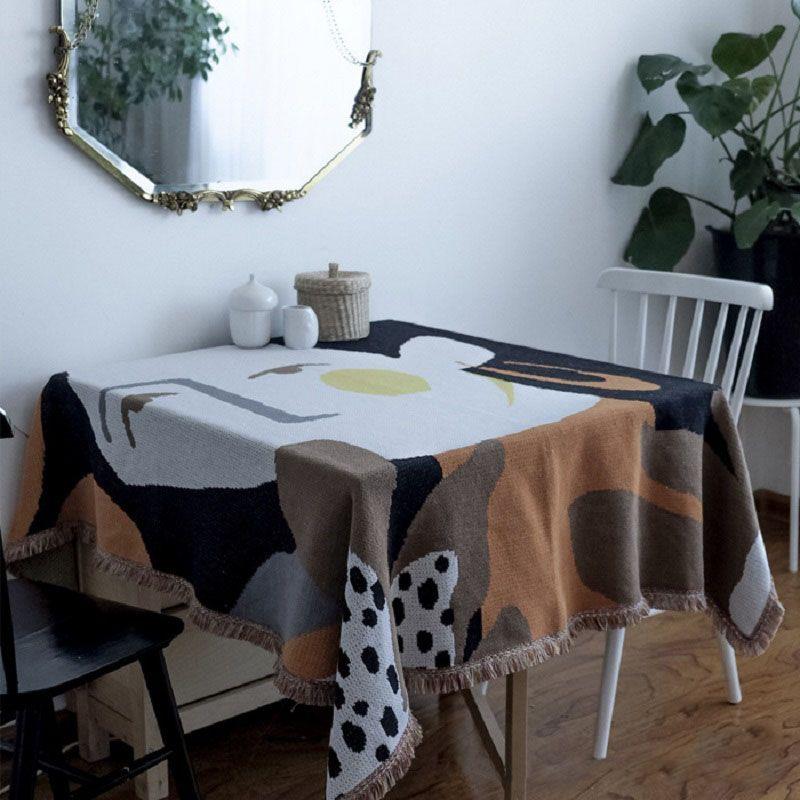 Tassel Cobertores tapeçaria capa sofá Sincere Homestay Bohemian Toalha Sofá Almofada Lazer Blanket Mat Toalha de Mesa Decoração