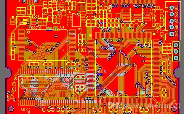 STM32F429 development board schematic and PCB STM32F429IGT6 MT29F4G08 W9825 W25Q RT9193 sch pcb