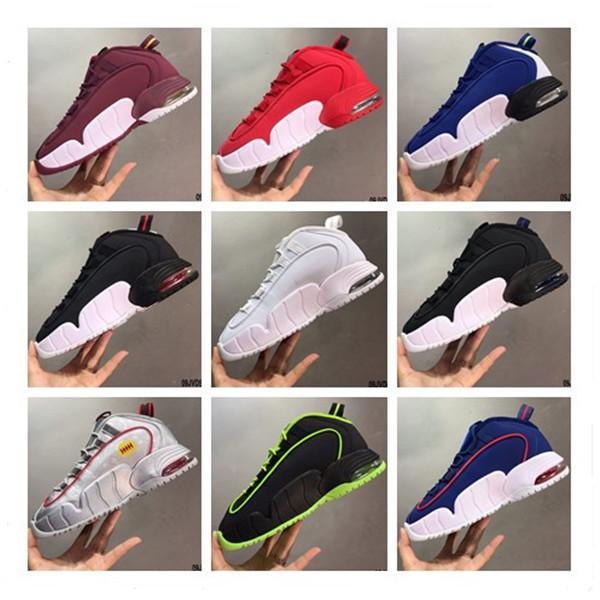 2020 Nuovo arrivo Penny Hardaway Mens Basketball Shoes vino rosso blu grigio argento bianco verde nero Mens allenatori sportivi sneakers formato 40-47