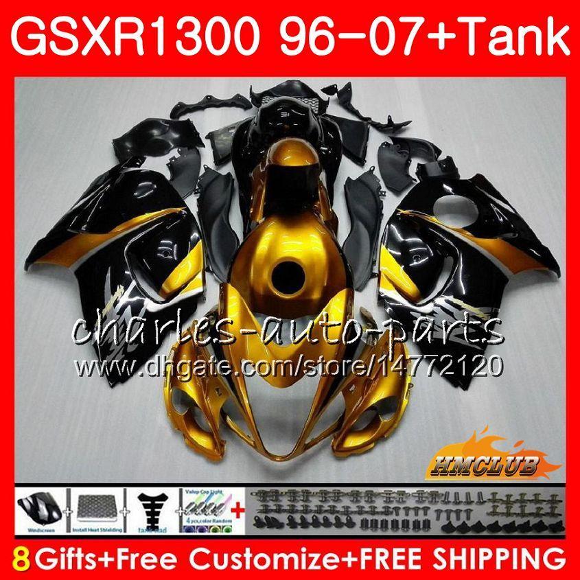 Kit pour Suzuki Hayabusa GSX-R1300 1996 Golden Noir 1997 1998 2007 24hc.24 GSXR 1300 GSXR1300 96 97 98 99 00 01 02 03 04 05 06 07 Fréation