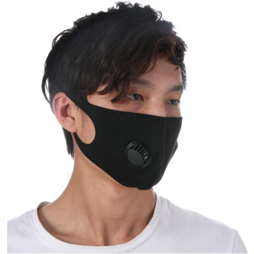 Ice Silk Breathing Valve Mask Adult Anti Dust Adjustable Face Masks Kids Reusable Mouth Muffle Designer Mask 5 Colors CCA12051