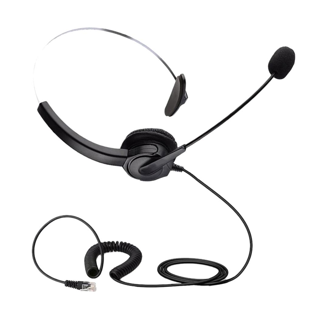 Call Center Hands Free Headsets Rj9 Headphone Monaural Microphone For Office Phone Earphones Wired Cell Phone Headset From Segolike 17 11 Dhgate Com
