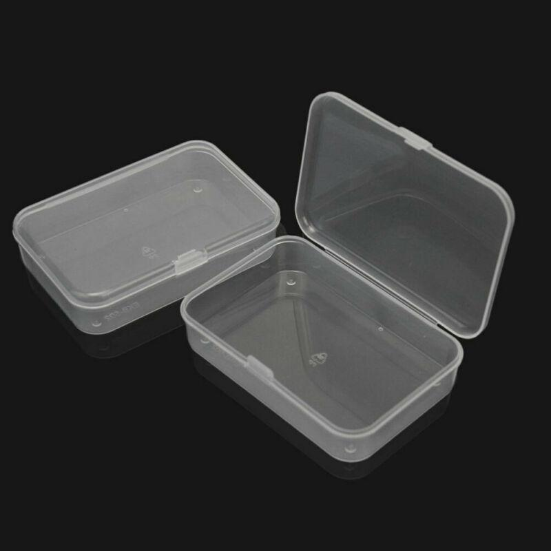 1pcs Small Plastic Storage Box Clear Multipurpose Parts Product Case Organization 8.8*6.1*2cm
