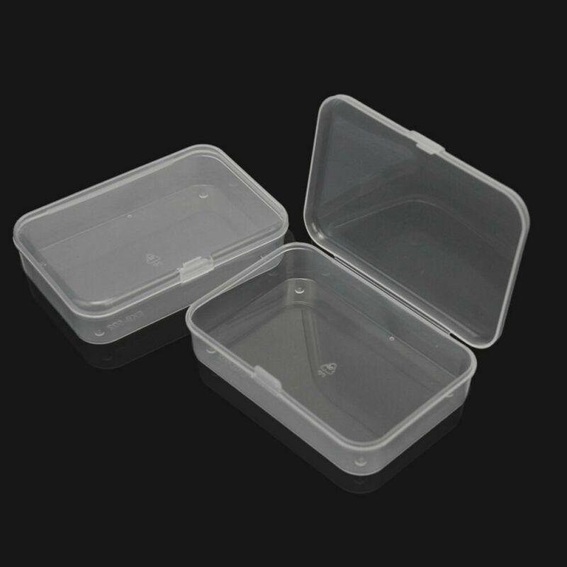 1pcs pequeña caja de plástico de almacenamiento de piezas Borrar Polivalente Producto Organización Caso 8.8 * 6.1 * 2cm