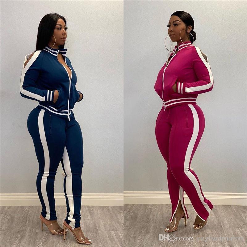 Neue Designer Tracksuits für Frauen 2PCS Oberteile Hosen Kleidung Sets Weibliche Vestidoes Designer Anzüge Sport Sets