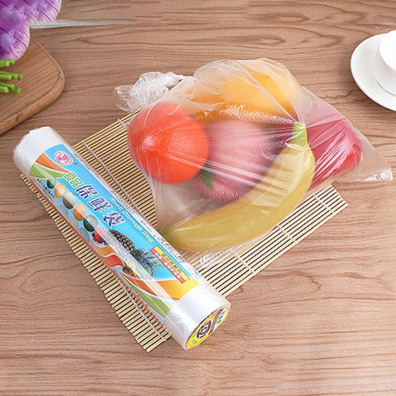 100pcs / roll Storage Bag Keeping Bag Fresh Per frigorifero domestico fresco lungo Keeping Support Microonde Riscaldamento