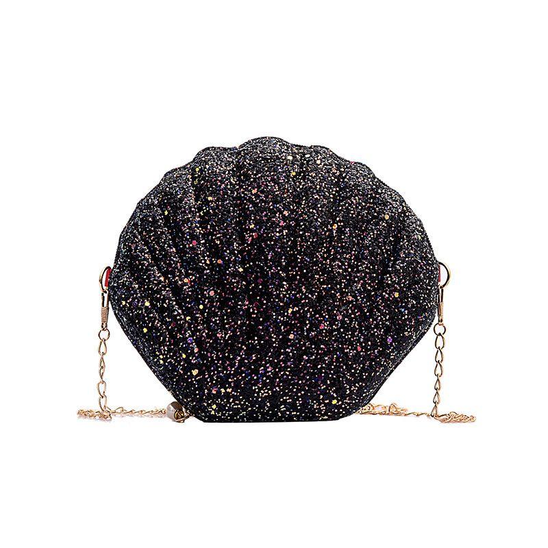 Spalla catena di borsa di Shell LISM 2019 New Fashion Solid Borse borse di colore Donne piccole Crossbody