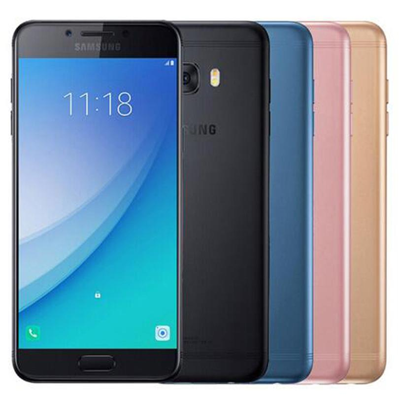 Refurbished Original Samsung Galaxy C5 Pro C5010 5.2 inch Octa Core 4GB RAM 64GB ROM 16MP Dual SIM 4G LTE Android Cell Phone Free DHL 1pcs