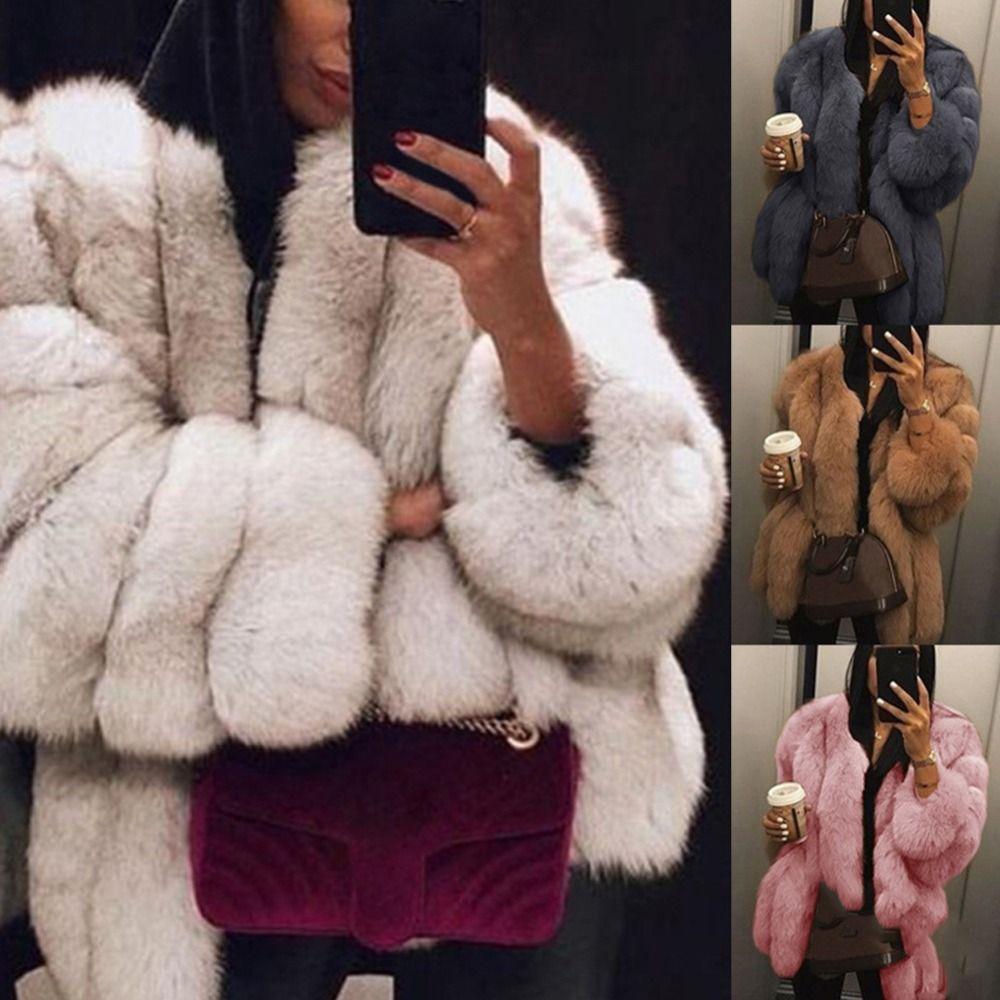 Plus Size 2XL femmes manteau de fourrure chaud manteau d'hiver en peluche douce fourrure veste de haute qualité femmes épais Faux