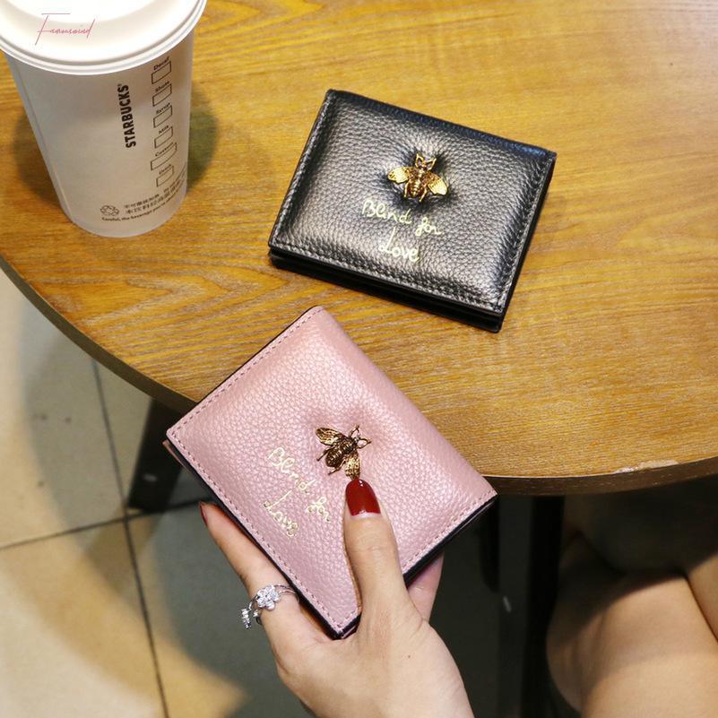 Femmes Portefeuilles et sacs à main d'origine animale Mode cuir Prints Mini Porte-monnaie abeille de lettre sac d'argent à court de conception POCHETTE