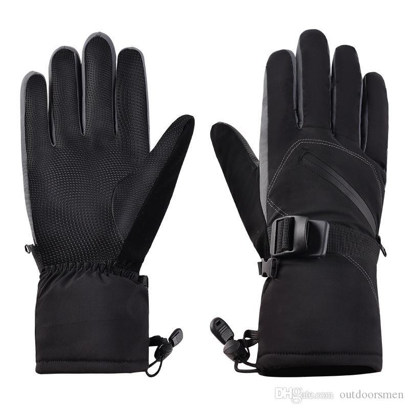 2019 Gants de ski d'hiver chauds d'unité centrale chauds pour hommes femmes imperméables respirant des gants de snowboard gardent au chaud des gants de sport robustes