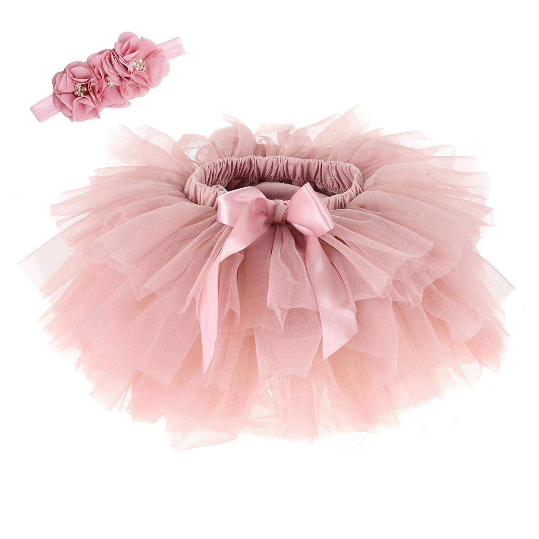 Bebés Meninas saia tutu Headband Set Criança Ruffle Tulle Diaper Covers vestido de princesa aniversário 0-3T
