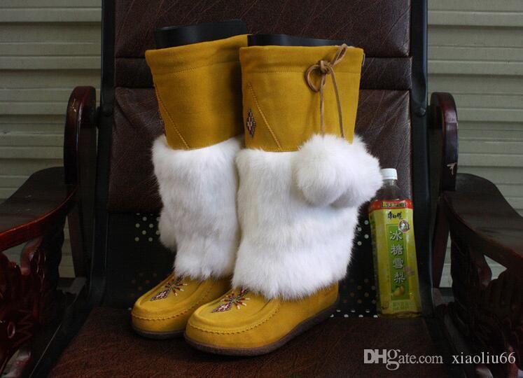 Clásico botas altas botas para mujer de la calidad MUKS Canadá mujeres de alto cargador de la nieve de invierno botas de cuero de tamaño 38-42 de Europa