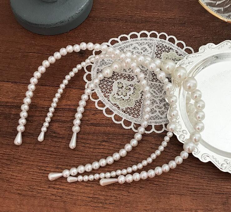 Semplice perla capelli cerchio fascia elegante forcina capelli decorazione decorazione intrecciata capelli regalo del partito