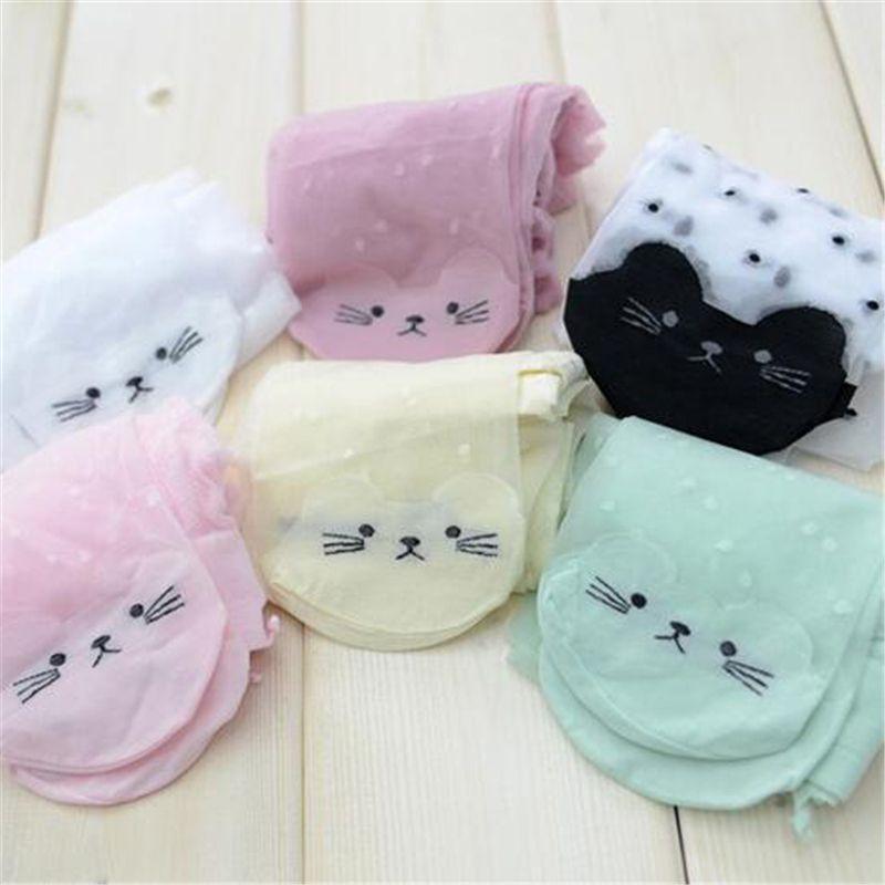 linda chica gato medias medias transparentes y de niños para personajes de dibujos animados pantys niñas niños bebé fino firmemente verano