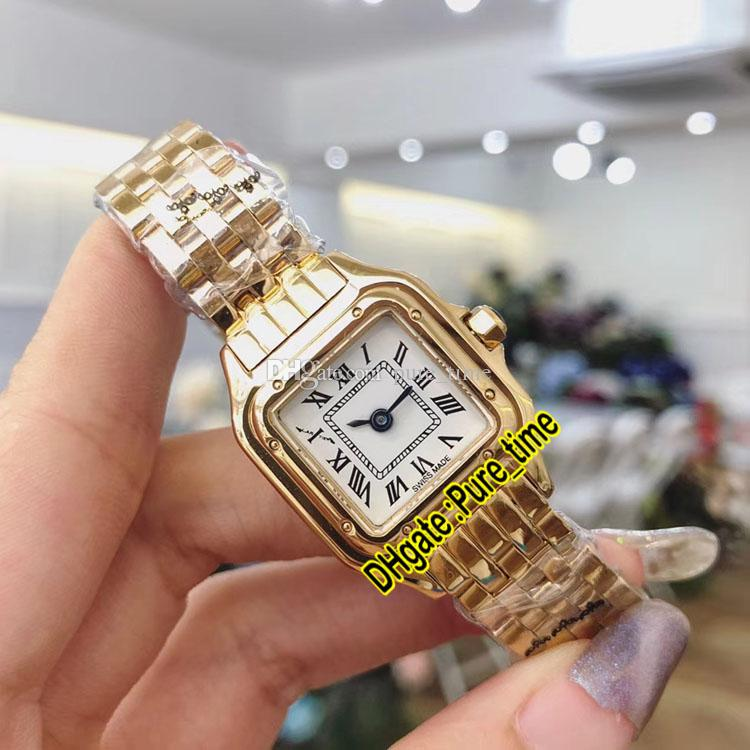 New Panthere Small 22mm WGPN0008 White Dial Swiss Quartz Womens Watch 18K Yellow Gold Bracelet Fashion Ladies Watches Pure_time High Quality