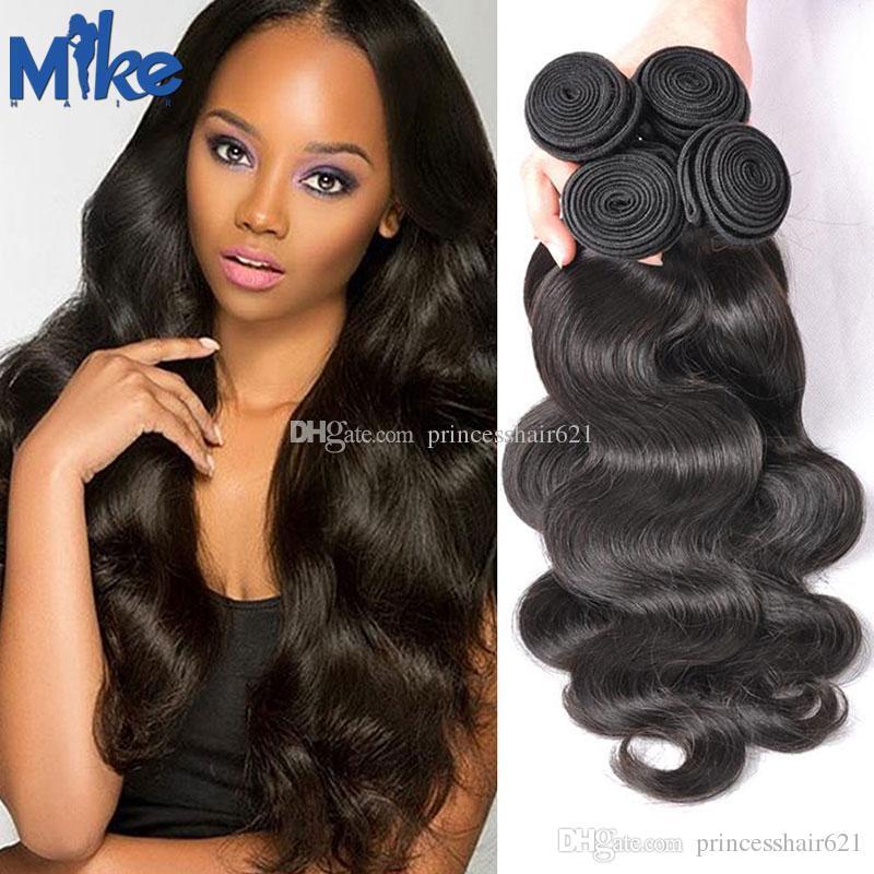 MikeHAIR Mink Brazilian Hair Weaves 4Pcs/Lot Cheap Human Hair Wholesale Full Ends Peruvian Malaysian Body Wave Hair Extensions