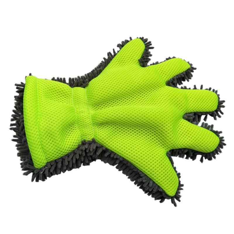 Car Wash Gloves Fine Wool Chenille Finger Gloves Microfiber Car Wash Glove Cleaning Mitt Washing Brush Cloth Car Cleaning Tools