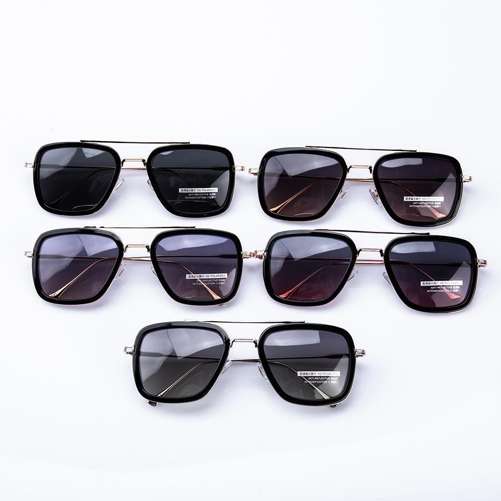 US AZIONE! Occhiali da sole unisex donne degli uomini di marca del progettista di vetro di Sun Gold Frame Piazza Occhiali Classic UV400 Eyewear fy2211