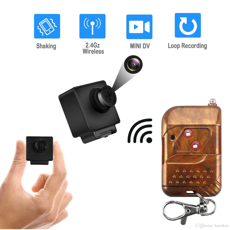 Mini T-Shirt Button Hidden DVR Camera Pinhole Camcorder 30fps Surveillance Body Camera