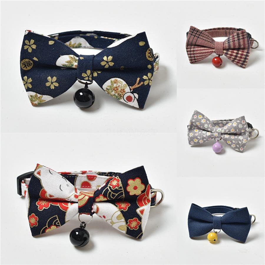 Hot Hothot sécurité Pet bowknot collier pour Éclairé Harnais en nylon pour chiens Led solide chien bowknot Collier Collier embrasé collier de chien @ # 48